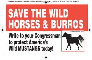 save the wild horses and burros sticker